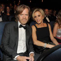 William H. Macy y Felicity Huffman en la gala de los Premios Emmy 2014