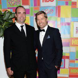 Rory McCann y Nikolaj Coster-Waldau en la fiesta de HBO tras los Emmy 2014