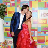 Kaley Cuoco y Ryan Sweeting en la fiesta de HBO tras los Emmy 2014