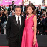 Nieves Álvarez y Marco Severini en la ceremonia de apertura del Festival de Venecia 2014