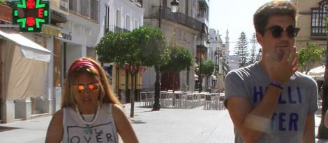 Chabelita Pantoja con su hijo Alberto y su amigo Alejandro en Sanlúcar de Barrameda