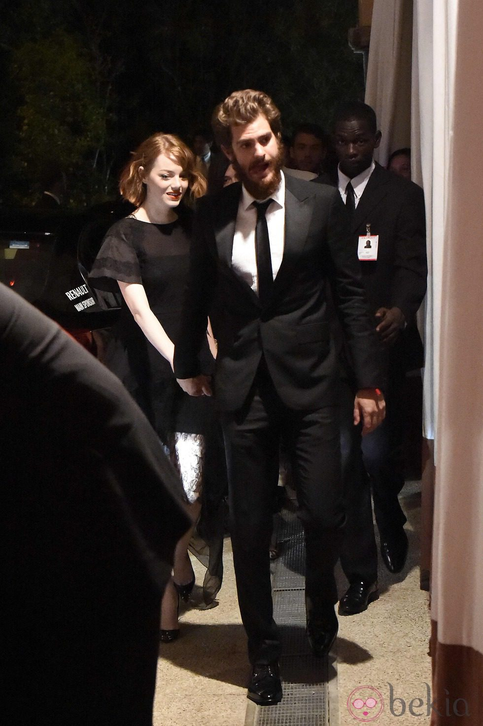 Emma Stone y Andrew Garfield paseando por Venecia
