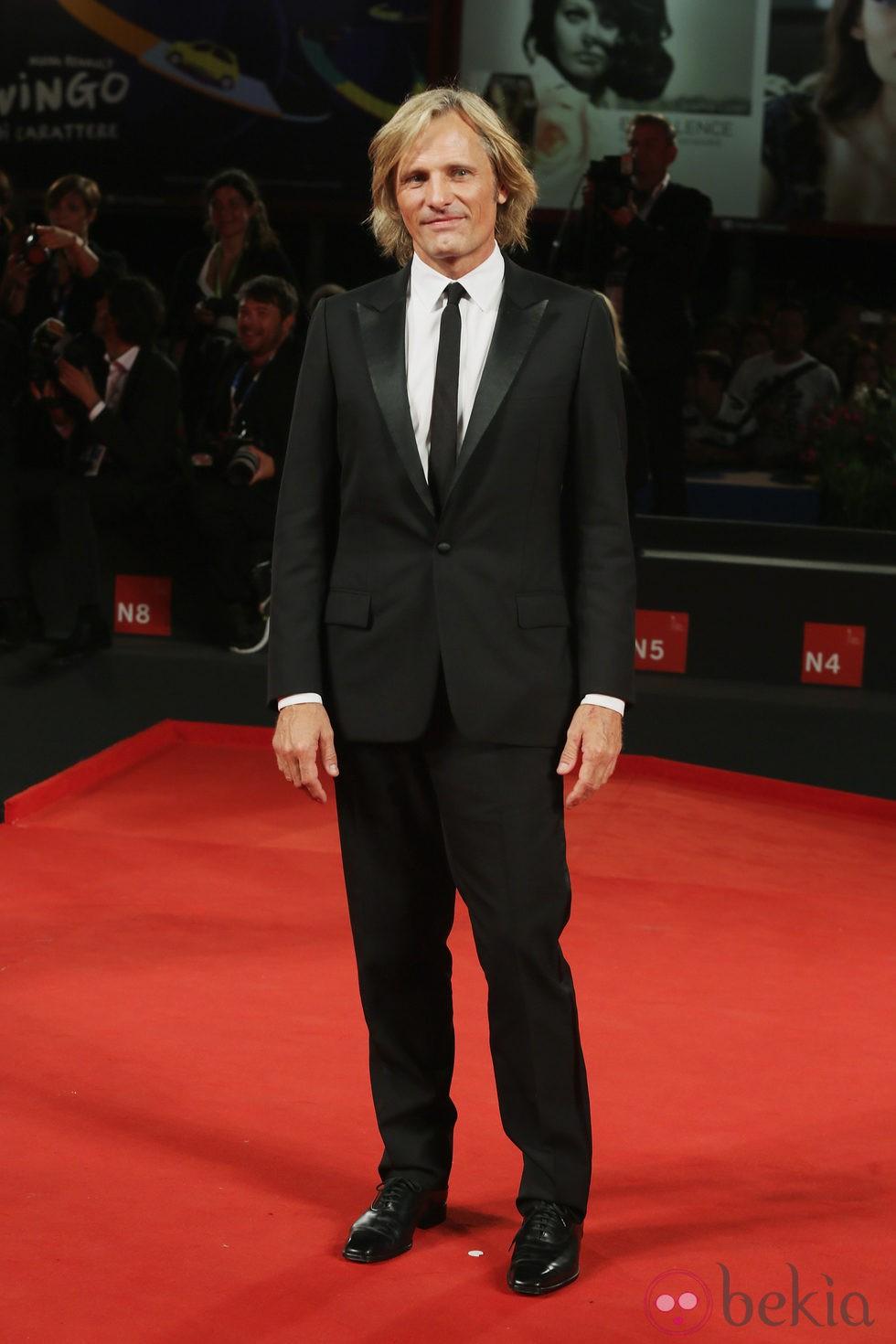 Viggo Mortensen en la presentación de 'Loin des Hommes' en el Festival de Venecia 2014