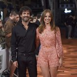 Michelle Jenner y Rodolfo Sancho en el estreno de 'Isabel' en el FesTVal de Vitoria 2014