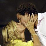 Heidi Klum y Vito Schnabel se besan en el torneo de tenis Us Open