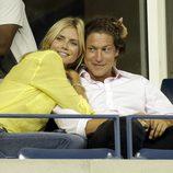 Heidi Klum cariñosa junto a Vito Schnabel en el Us Open 2014