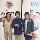 Samantha Vallejo-Nájera, Pepe Rodríguez y Jordi Cruz en la presentación de 'Masterchef Junior 2' en el FesTVal 2014