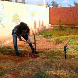 Sandra Blázquez durante su voluntariado en Marruecos