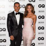Lewis Hamilton y Nicole Scherzinger en los Premios GQ Hombres del Año 2014