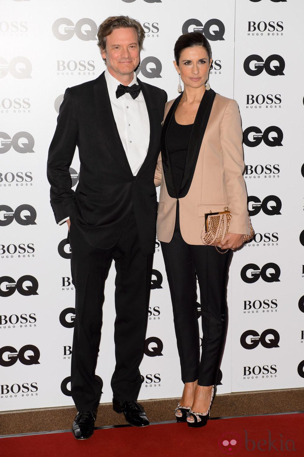 Colin Firth y Livia Giuggioli en los Premios GQ Hombres del Año 2014