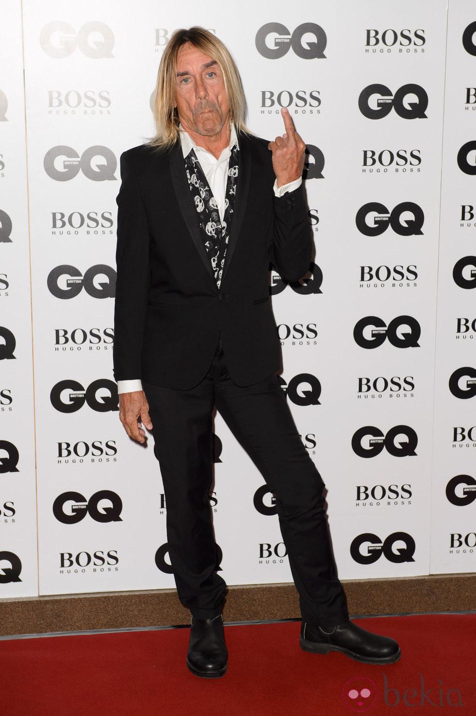 Iggy Pop en los Premios GQ Hombres del Año 2014