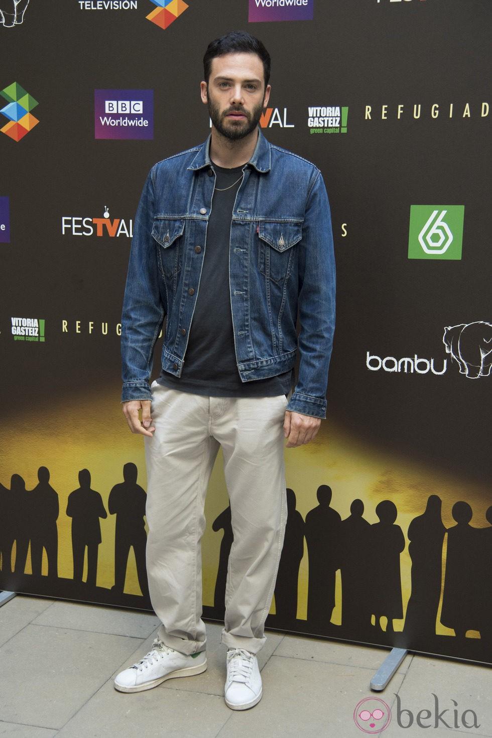 David Leon en la presentación de 'Refugiados' en el FesTVal de Vitoria 2014