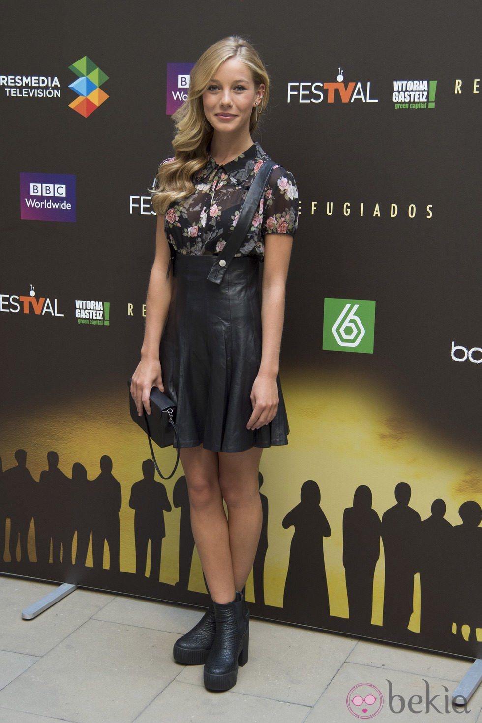 Charlotte Vega en la presentación de 'Refugiados' en el FesTVal de Vitoria 2014