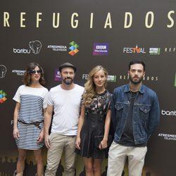 Natalia Tena, Will Keen, David Leon y Charlotte Vega en la presentación de 'Refugiados' en el FesTVal de Vitoria 2014