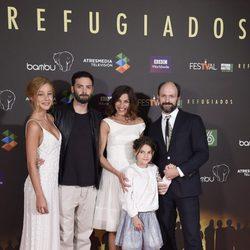 Charlotte Vega, David Leon, Natalia Tena y Will Keen en el estreno de 'Refugiados' en el FesTVal 2014