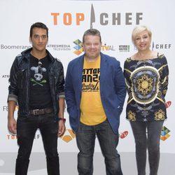 Yayo Daporta, Alberto Chicote y Susi Díaz en la presentación de 'Top Chef 2' en el FesTVal de Vitoria 2014