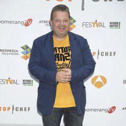 Alberto Chicote en la presentación de 'Top Chef 2' en el FesTVal de Vitoria 2014