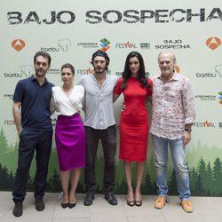 Pedro Alonso, Alicia Borrachero, Yon González, Blanca Romero y Lluis Homar presentan 'Bajo Sospecha' en el FesTVal de Vitoria 2014
