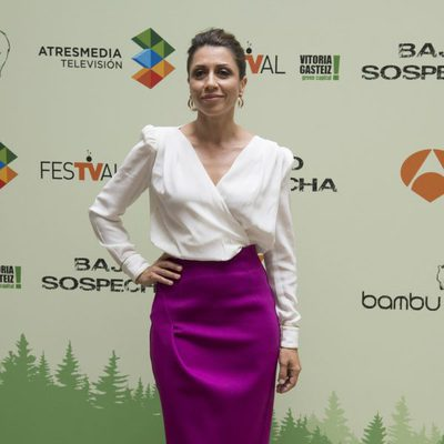Alicia Borrachero en la presentación de 'Bajo Sospecha' en el FesTVal de Vitoria 2014