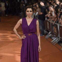 Alicia Borrachero en el estreno de 'Bajo Sospecha' en el FesTVal de Vitoria 2014
