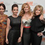 Abigail Spencer, Tina Fey, Connie Britton y Jane Fonda en el estreno de 'Ahí os quedáis' en el Festival de Toronto 2014