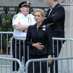 Carolina Herrera en el funeral de Joan Rivers