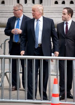 Donald Trump en el funeral de Joan Rivers