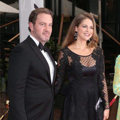 La Princesa Magdalena y Chris O'Neill en la cena organizada por la World Childhood Foundation