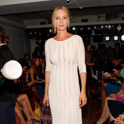 Uma Thurman en el desfile de Ralph Lauren en la Semana de la Moda de Nueva York Primavera/Verano 2015