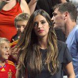 Sara Carbonero en el partido del Mundial de Baloncesto 2014 Francia-España