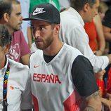 Sergio Ramos en el partido del Mundial de Baloncesto 2014 Francia-España
