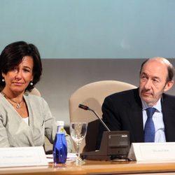 Ana Patricia Botín y Alfredo Pérez Rubalcaba