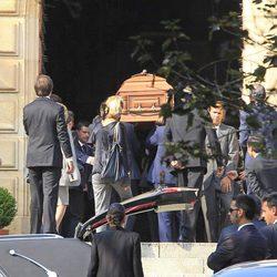 Los restos mortales de Emilio Botín a su llegada al panteón familiar