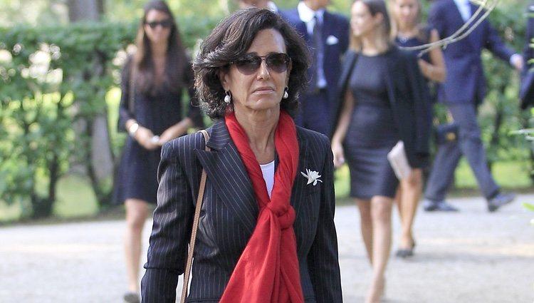 Ana Patricia Botín en el entierro de su padre Emilio Botín