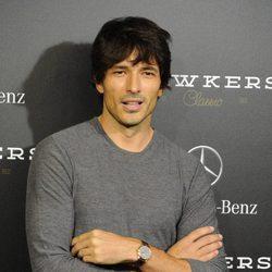 Andrés Velencoso en un acto promocional en la Mercedes-Benz Living