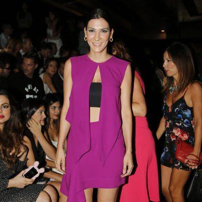 Cecilia Gessa en el desfile de Amaya Arzuaga en Madrid Fashion Week primavera/verano 2015