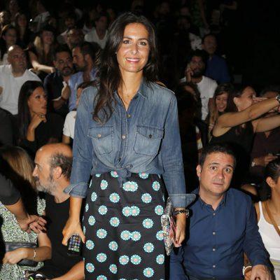 Nuria Roca en el desfile de Davidelfín en Madrid Fashion Week primavera/verano 2015