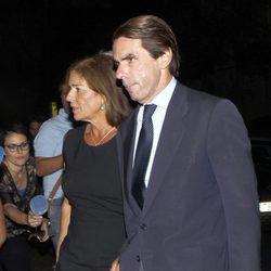 Ana Botella y José María Aznar en la capilla ardiente de Isidoro Álvarez