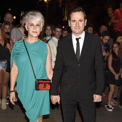 Antonia San Juan y Luis Miguel en la presentación de la nueva colección del diseñador Riccardo Tisci