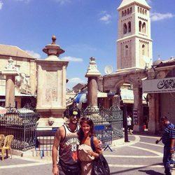 Luis Fernández y Ana Polvorosa en Israel