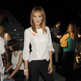 Sandra Ibarra en el desfile de Dolores Cortés en Madrid Fashion Week primavera/verano 2014