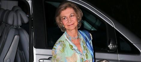La Reina Sofía en la celebración de las Bodas de Oro de los Reyes de Grecia