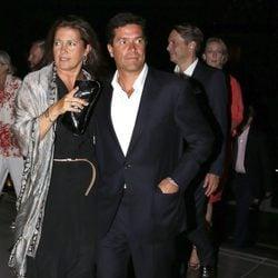 Alexia de Grecia y Carlos Morales en la celebración de las Bodas de Oro de los Reyes de Grecia
