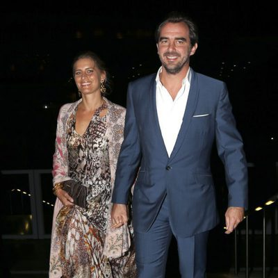 Nicolás y Tatiana de Grecia en la celebración de las Bodas de Oro de los Reyes de Grecia