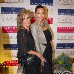 Lydia Lozano con Tamara Gorro en la presentación de su colección de zapatos