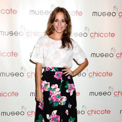 Silvia Alonso en una fiesta organizada por Museo Chicote