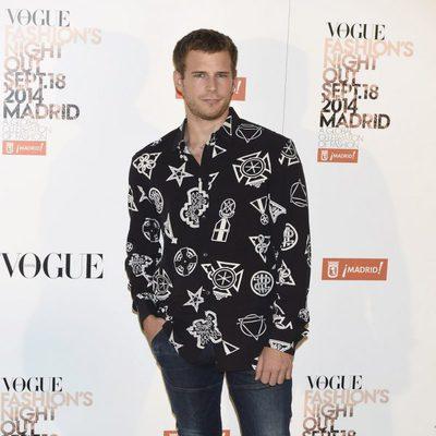 Álvaro Cervantes en la Vogue Fashion's Night Out Madrid 2014