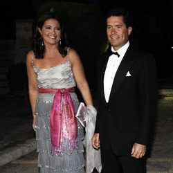Alexia de Grecia y Carlos Morales en las Bodas de Oro de los Reyes de Grecia