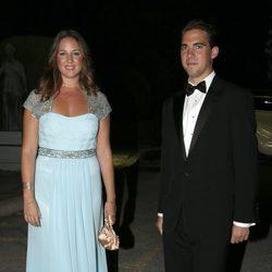Teodora y Felipe de Grecia en las Bodas de Oro de los Reyes de Grecia