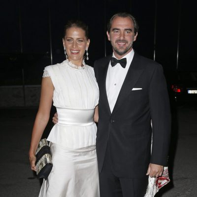 Nicolás y Tatiana de Grecia en las Bodas de Oro de los Reyes de Grecia